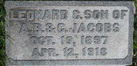 JACOBS, LEONARD C. - Dodge County, Nebraska | LEONARD C. JACOBS - Nebraska Gravestone Photos