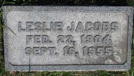 JACOBS, LESLIE - Dodge County, Nebraska | LESLIE JACOBS - Nebraska Gravestone Photos
