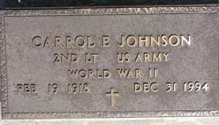 JOHNSON, CARROL E. (WW II MARKER) - Dodge County, Nebraska | CARROL E. (WW II MARKER) JOHNSON - Nebraska Gravestone Photos