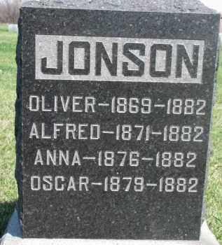 JONSON, OLIVER - Dodge County, Nebraska | OLIVER JONSON - Nebraska Gravestone Photos