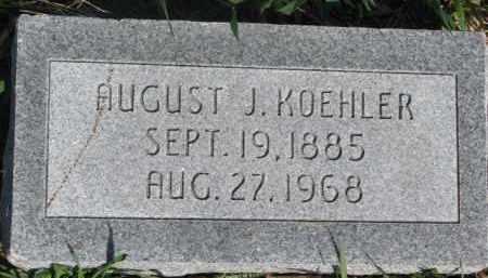 KOEHLER, AUGUST J. - Dodge County, Nebraska   AUGUST J. KOEHLER - Nebraska Gravestone Photos