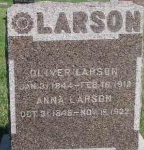 LARSON, ANNA - Dodge County, Nebraska | ANNA LARSON - Nebraska Gravestone Photos