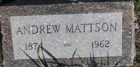 MATTSON, ANDREW - Dodge County, Nebraska | ANDREW MATTSON - Nebraska Gravestone Photos