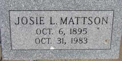 MATTSON, JOSIE L. - Dodge County, Nebraska | JOSIE L. MATTSON - Nebraska Gravestone Photos