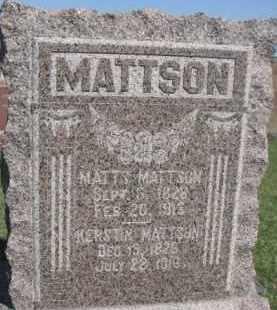 MATTSON, KERSTIN - Dodge County, Nebraska | KERSTIN MATTSON - Nebraska Gravestone Photos