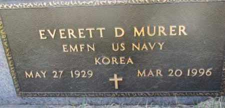 MURER, EVERETT D. (MILITARY MARKER) - Dodge County, Nebraska   EVERETT D. (MILITARY MARKER) MURER - Nebraska Gravestone Photos