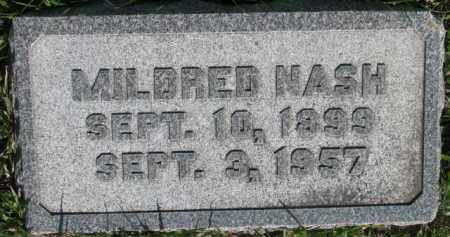 NASH, MILDRED - Dodge County, Nebraska | MILDRED NASH - Nebraska Gravestone Photos