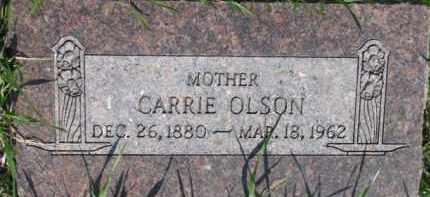 OLSON, CARRIE - Dodge County, Nebraska | CARRIE OLSON - Nebraska Gravestone Photos