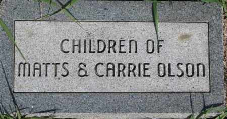 OLSON, CHILDREN OF MATTS & CARRIE - Dodge County, Nebraska | CHILDREN OF MATTS & CARRIE OLSON - Nebraska Gravestone Photos