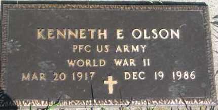 OLSON, KENNETH E.  (WW II MARKER) - Dodge County, Nebraska   KENNETH E.  (WW II MARKER) OLSON - Nebraska Gravestone Photos