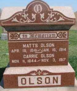 OLSON, MATTS - Dodge County, Nebraska | MATTS OLSON - Nebraska Gravestone Photos