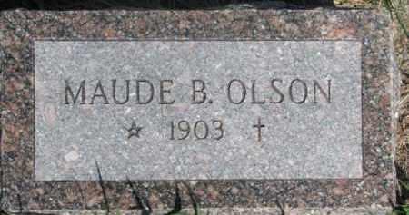 OLSON, MAUDE B. - Dodge County, Nebraska   MAUDE B. OLSON - Nebraska Gravestone Photos