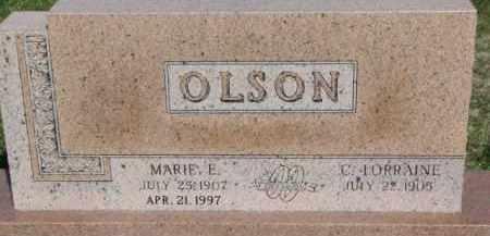 OLSON, MARIE E. - Dodge County, Nebraska | MARIE E. OLSON - Nebraska Gravestone Photos
