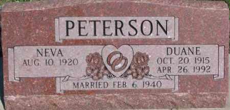 PETERSON, NEVA - Dodge County, Nebraska   NEVA PETERSON - Nebraska Gravestone Photos
