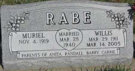 RABE, WILLIS - Dodge County, Nebraska | WILLIS RABE - Nebraska Gravestone Photos