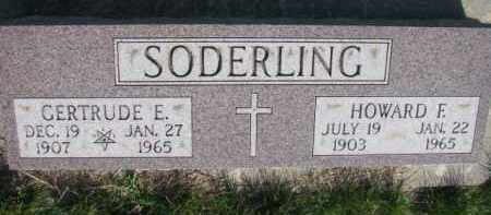 SODERLING, HOWARD F. - Dodge County, Nebraska | HOWARD F. SODERLING - Nebraska Gravestone Photos