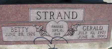STRAND, BETTY - Dodge County, Nebraska   BETTY STRAND - Nebraska Gravestone Photos