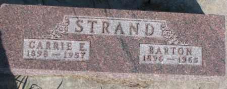 STRAND, BARTON - Dodge County, Nebraska   BARTON STRAND - Nebraska Gravestone Photos