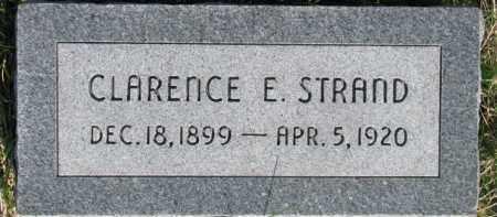 STRAND, CLARENCE E. - Dodge County, Nebraska   CLARENCE E. STRAND - Nebraska Gravestone Photos
