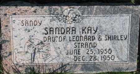 STRAND, SANDRA KAY - Dodge County, Nebraska | SANDRA KAY STRAND - Nebraska Gravestone Photos