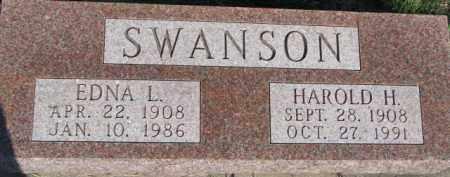SWANSON, EDNA L. - Dodge County, Nebraska | EDNA L. SWANSON - Nebraska Gravestone Photos