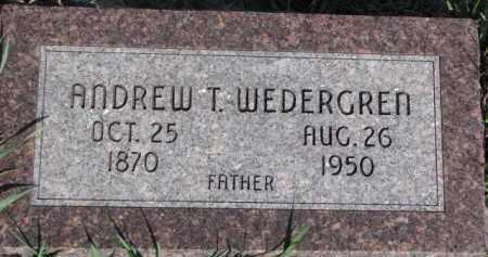 WEDERGREN, ANDREW T. - Dodge County, Nebraska | ANDREW T. WEDERGREN - Nebraska Gravestone Photos