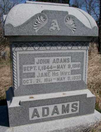 ADAMS, JOHN - Dodge County, Nebraska | JOHN ADAMS - Nebraska Gravestone Photos