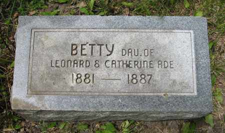 ADE, BETTY - Dodge County, Nebraska   BETTY ADE - Nebraska Gravestone Photos