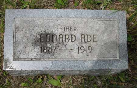 ADE, LEONARD - Dodge County, Nebraska | LEONARD ADE - Nebraska Gravestone Photos