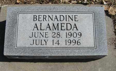 ALAMEDA, BERNADINE - Dodge County, Nebraska | BERNADINE ALAMEDA - Nebraska Gravestone Photos