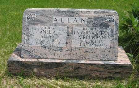 ALLAN KIRCHMANN, LAVERNA - Dodge County, Nebraska | LAVERNA ALLAN KIRCHMANN - Nebraska Gravestone Photos