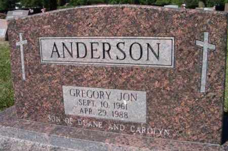 ANDERSON, GREGORY JON - Dodge County, Nebraska   GREGORY JON ANDERSON - Nebraska Gravestone Photos