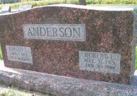 ANDERSON, ROBERT L. - Dodge County, Nebraska | ROBERT L. ANDERSON - Nebraska Gravestone Photos