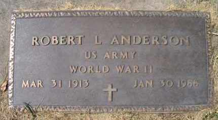ANDERSON, ROBERT L. (MILITARY MARKER) - Dodge County, Nebraska   ROBERT L. (MILITARY MARKER) ANDERSON - Nebraska Gravestone Photos