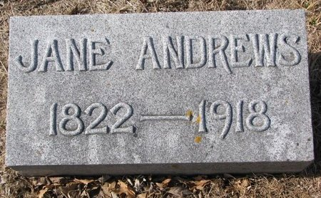 ANDREWS, JANE - Dodge County, Nebraska | JANE ANDREWS - Nebraska Gravestone Photos