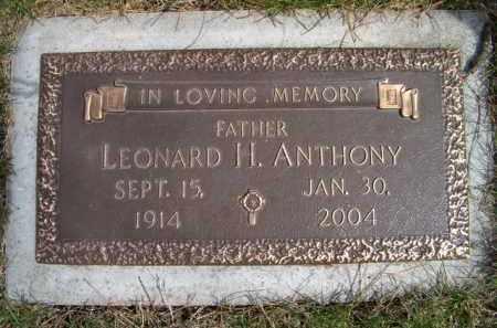 ANTHONY, LEONARD H - Dodge County, Nebraska | LEONARD H ANTHONY - Nebraska Gravestone Photos