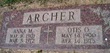 ARCHER, OTIS O - Dodge County, Nebraska | OTIS O ARCHER - Nebraska Gravestone Photos