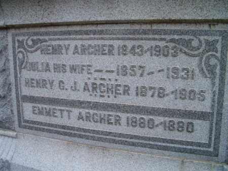 ARCHER, HENRY - Dodge County, Nebraska | HENRY ARCHER - Nebraska Gravestone Photos