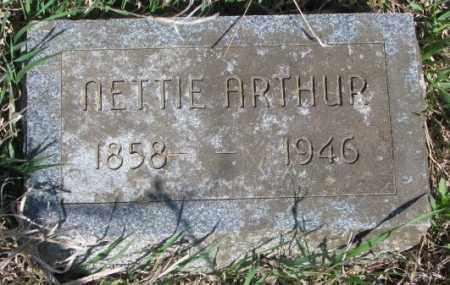 ARTHUR, NETTIE - Dodge County, Nebraska | NETTIE ARTHUR - Nebraska Gravestone Photos