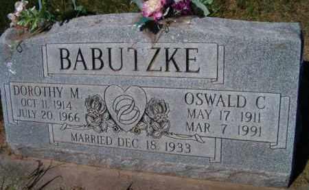 BABUTZKE, OSWALD C. - Dodge County, Nebraska | OSWALD C. BABUTZKE - Nebraska Gravestone Photos