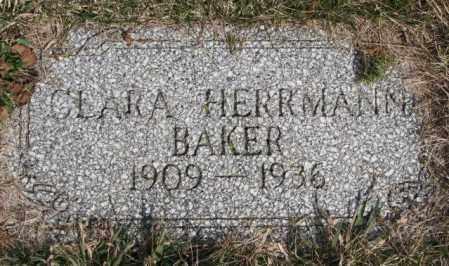 BAKER, CLARA - Dodge County, Nebraska | CLARA BAKER - Nebraska Gravestone Photos