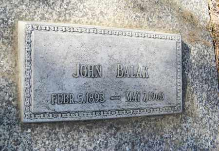 BALAK, JOHN (CLOSE-UP) - Dodge County, Nebraska   JOHN (CLOSE-UP) BALAK - Nebraska Gravestone Photos