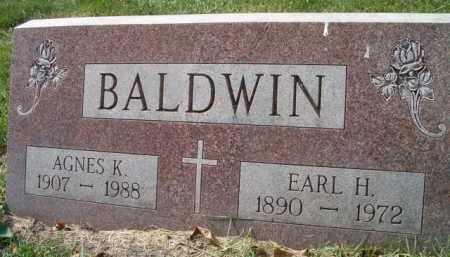 BALDWIN, EARL H. - Dodge County, Nebraska | EARL H. BALDWIN - Nebraska Gravestone Photos