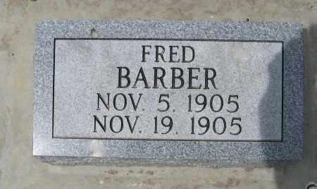 BARBER, FRED - Dodge County, Nebraska | FRED BARBER - Nebraska Gravestone Photos