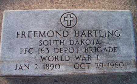 BARTLING, FREEMOND (MILITARY MARKER) - Dodge County, Nebraska | FREEMOND (MILITARY MARKER) BARTLING - Nebraska Gravestone Photos