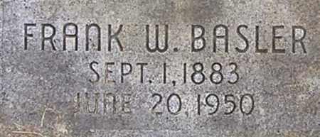 BASLER, FRANK - Dodge County, Nebraska | FRANK BASLER - Nebraska Gravestone Photos