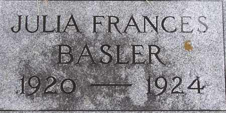 BASLER, JULIA - Dodge County, Nebraska | JULIA BASLER - Nebraska Gravestone Photos