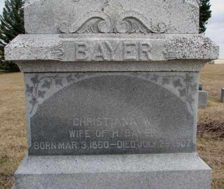 BAYER, CHRISTINA W. - Dodge County, Nebraska   CHRISTINA W. BAYER - Nebraska Gravestone Photos