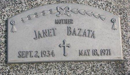 BAZATA, JANET - Dodge County, Nebraska   JANET BAZATA - Nebraska Gravestone Photos