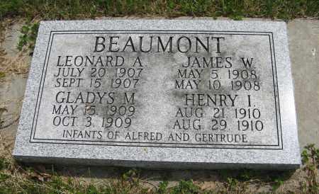 BEAUMONT, GLADYS M. - Dodge County, Nebraska | GLADYS M. BEAUMONT - Nebraska Gravestone Photos